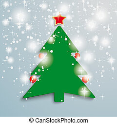 Christmas Tree Stars Background PiAd