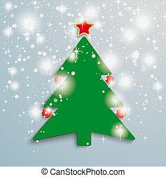 Christmas Tree Stars Background PiAd