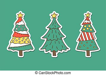 Christmas Tree Stickers set