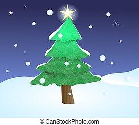Christmas Tree - Christmas tree scene.