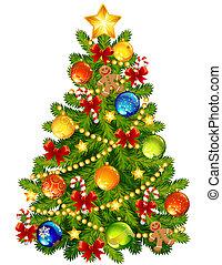 Christmas tree -  illustration - Christmas tree