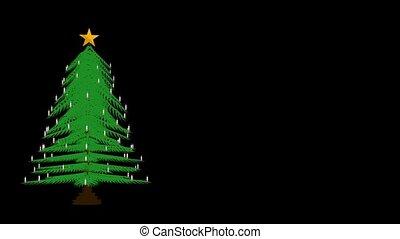 Christmas Tree - Christmas tree spinning around