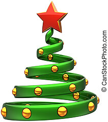 Christmas tree stylized abstract