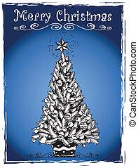 Christmas tree stylized drawing 3