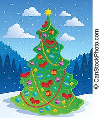 Christmas tree theme 3