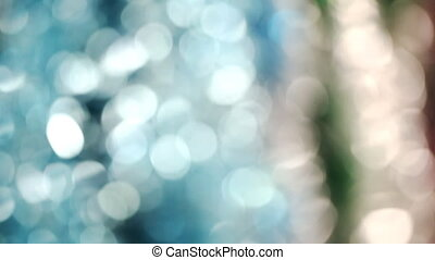 Christmas tree tinsel , Christmas decorations, blurred...