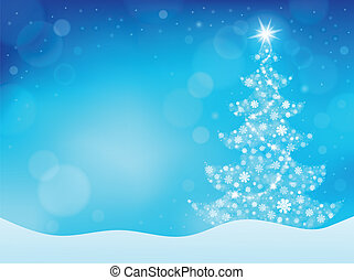 Christmas tree topic background 4