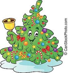 Christmas tree topic image 4 - eps10 vector illustration.