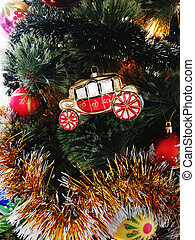 Christmas tree toy in the form of a royal carriage