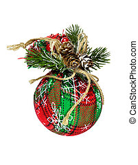 Christmas tree toy on a white background