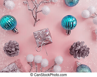 christmas tree toy, winter background celebration festive