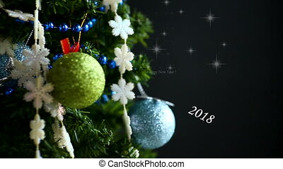 Christmas tree, toys and congratulations on a New Year's...