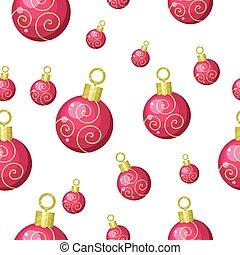 Christmas Tree Toys Seamless Pattern Vector