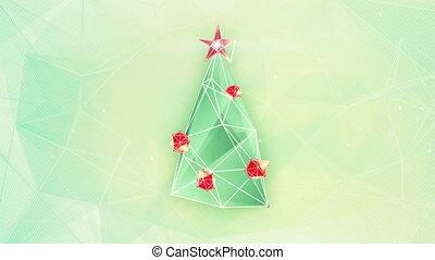 christmas tree triangles shape loop - christmas tree...