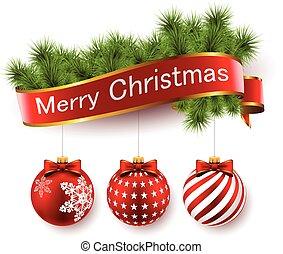 Christmas tree twig