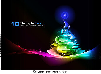 Christmas tree. Vector abstract design. - Abstract vector...