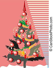 Christmas tree Vector Illustration eps10