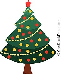 Christmas tree Vector Illustration Graphics.