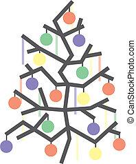 Christmas. Tree Vector Illustration - Christmas greeting...