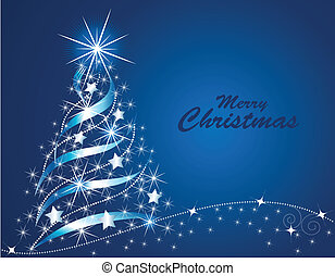 Christmas Tree - Vector illustration of an abstract shining...