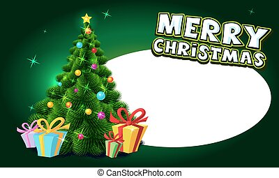 Christmas tree - vector illustratio