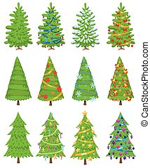 Christmas tree vector ornament design