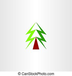 christmas tree vector symbol green icon