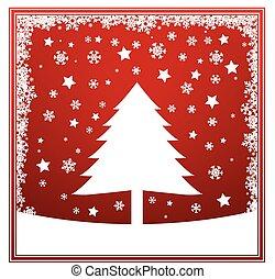 Christmas tree winter card