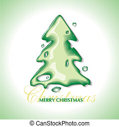 Christmas tree with a water effect
