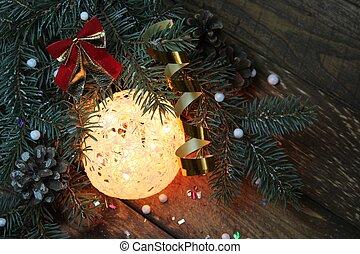 Christmas tree with ball