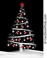 Christmas tree with baseballs