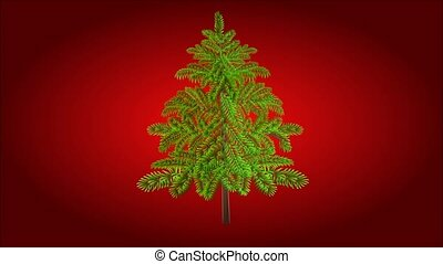 Christmas tree with baubles - Animation of illustration...