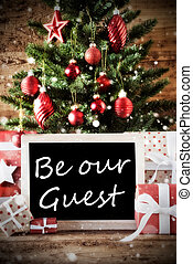 Christmas Tree With Be Our Guest - Christmas Card For...