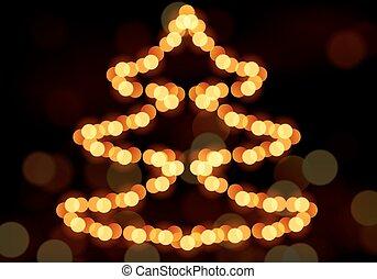 Christmas tree with bokeh