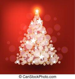 Christmas tree with bright stars