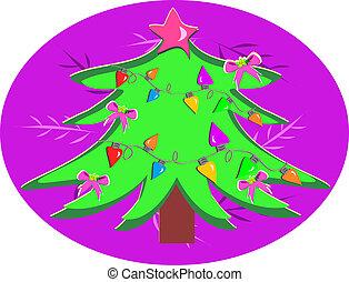 Christmas Tree with Bulbs