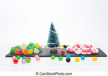 Christmas tree with candies