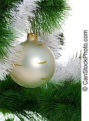 Christmas tree with christmas sphere