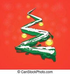 Christmas tree with Christmas toys