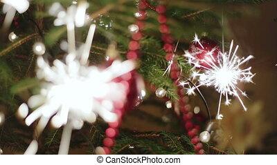 Christmas tree with color balls and