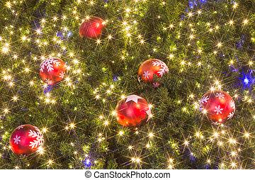Christmas tree with colorful balls