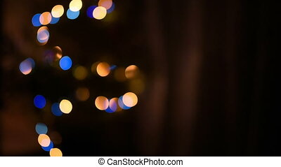 Christmas tree with Colorful bokeh