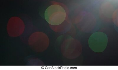 Christmas tree with colorful bokeh and christmas lights..Christmas and new year decoration. Blinking garland.