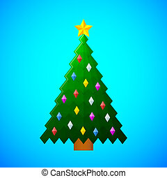 christmas tree with decorations on
