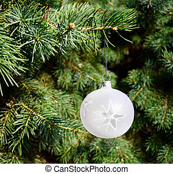 Christmas tree with decorative ornament