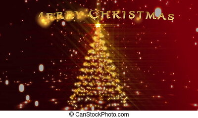 Christmas tree with green screens a
