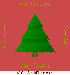 Christmas tree with greetings in 4 languages