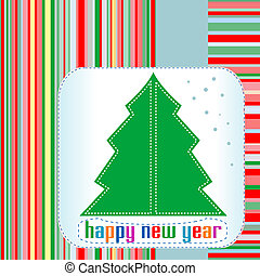 Christmas tree with Happy New Year greetings