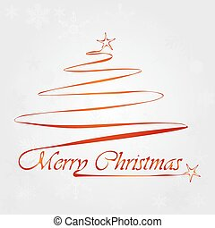 Christmas tree with lettering
