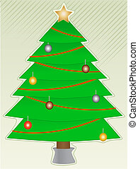 Christmas Tree with light decorations abstract